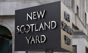 The New Scotland Yard sign