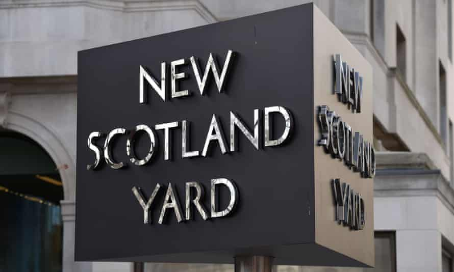 Sign for New Scotland Yard in London