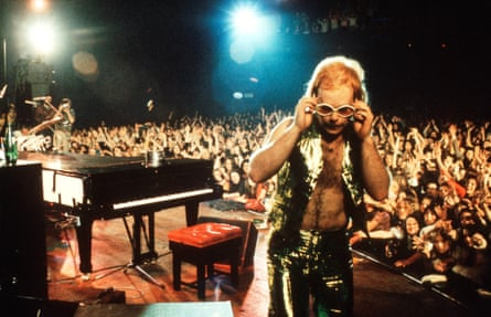 'I hadn't even wanted to be a rock star': Elton John on stage in 1974.