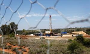 A Santos drill rig near Roma, 430 km west of Brisbane