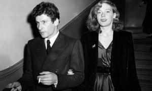 Freud with Caroline Blackwood in 1953,