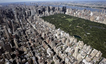 An aerial view of Upper East Side of Manhattan; somewhere here lies Brazenhead Books.