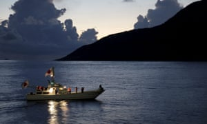 A Japanese fishing boat  in the East China Sea
