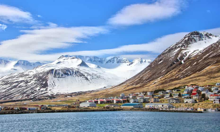 Siglufjörður, where Campbell slept in a cabin recently vacated by the singer Jónsi.