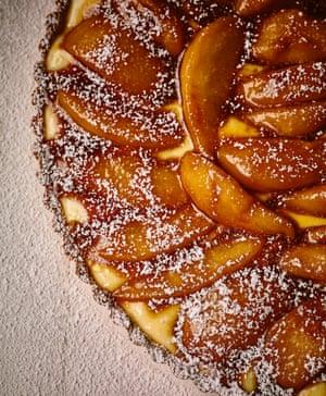 Pear tart.
