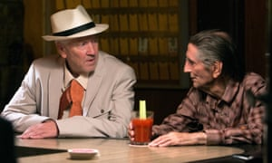 Existential agony … David Lynch, left, and Harry Dean Stanton in Lucky.