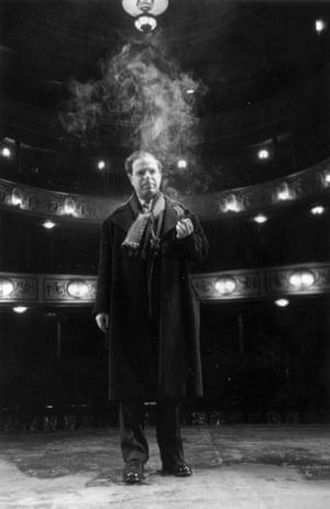 Peter Brook on stage in 1952.