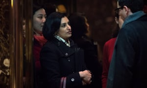 Seema Verma, president and founder of SVC Inc, gets into an elevator as she arrives at Trump Tower last month.