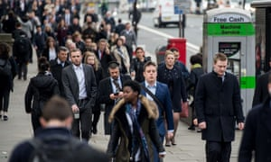 The number of people in work was still up by 279,000 on a year ago, the ONS said.