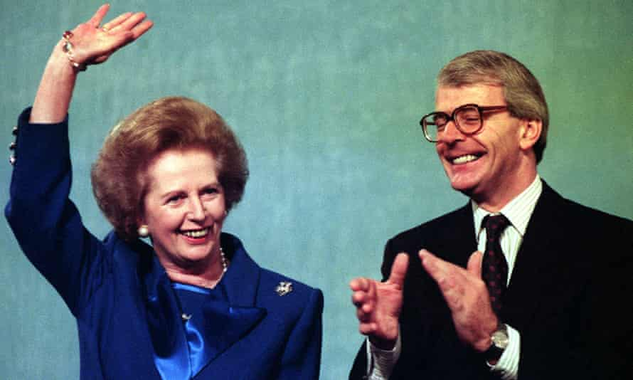 Margaret Thatcher and John Major pictured in October 1991.