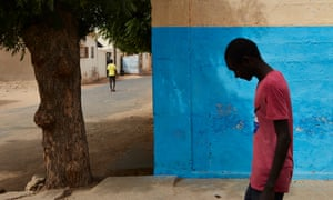 A street scene in Podor, Senegal