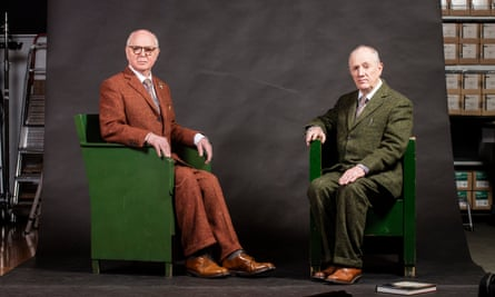 Gilbert & George, photographed at their London home in 2017