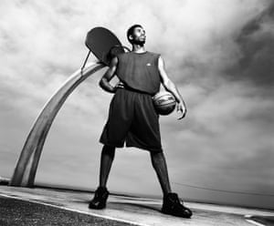 Kobe Bryant, of the Los Angeles Lakers, at Angels Gate Park, San Pedro, California, in 2001.