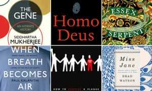 some of the titles longlisted for the Wellcome book prize.