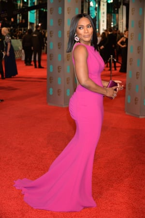 Pretty in pink Angela Bassett on the red carpet.