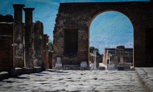 A view of the ruins of Pompeii today. The vast archaeological area is closed to visitors due to the pandemic.