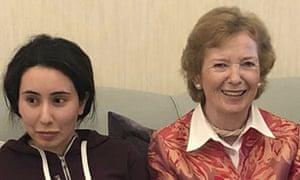 Mary Robinson at her meeting with Sheikha Latifa bint Mohammed al-Maktoum
