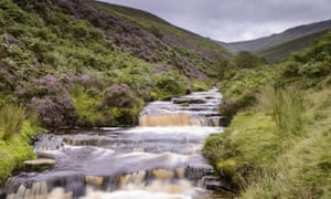 A stream at Fairbrook Naze, Kinder Scout, one of Britain's 'beautiful places'.