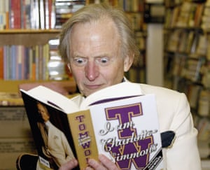Tom Wolfe attends a signing event for his book I Am Charlotte Simmons in Brentwood, California, in November 2004