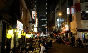 Real Tokyo: people drink after work in Shinbashi