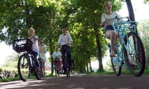 Kylie van Dam and her family in Houten