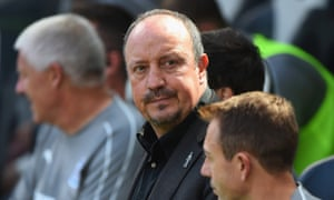 Rafa Benítez show signs of frustration during a pre-season friendly against Augsburg on 4 August.
