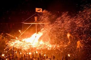 Ship burning