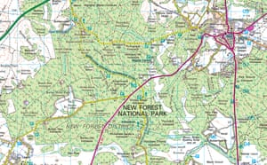OS map of the New Forest