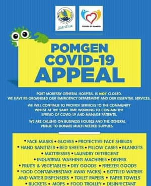 The Port Moresby hospital appeal.