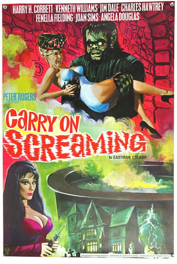 A poster for the Hammer parody Carry on Screaming.