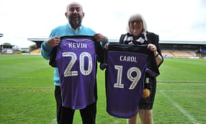 Port Vale FC owners Carol and Kevin Shanahan.