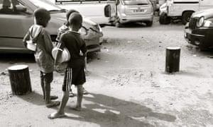 Talibé children begging in Dakar.