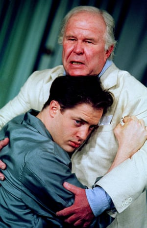 Brendan Fraser with Ned Beatty in Cat On a Hot Tin Roof at the Lyric in 2001