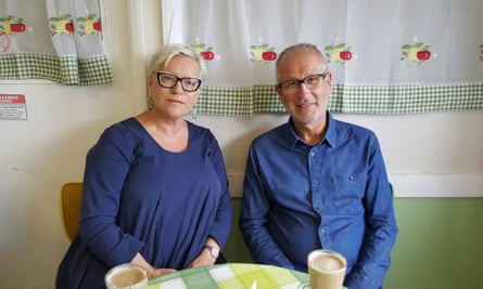 Gary and Lesley Wainwright at their home in Kent: 'the bank would not give the builders the rest of the money to finish'.