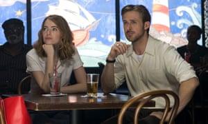 Star power … Emma Stone and Ryan Gosling in La La Land.