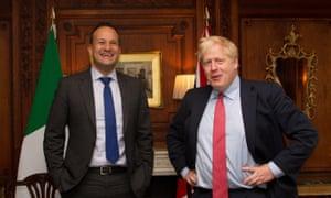 Irish prime minister Leo Varadkar meets Boris Johnson in October 2019