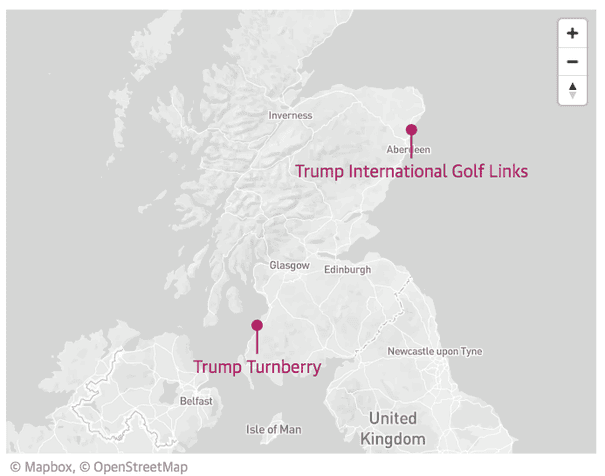 Donald Trump has lost tens of millions on Scottish golf courses