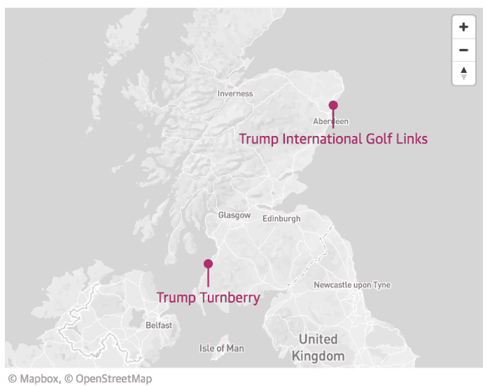 Donald Trump has lost tens of millions on Scottish golf