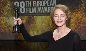 Charlotte Rampling won a lifetime achievement prize at the European film awards last December.