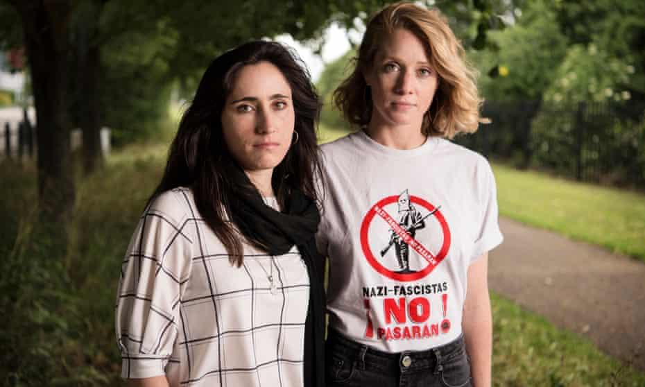 Melania Geymonat (left) and Chris.
