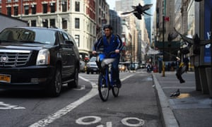 A cyclist in New York.