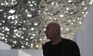 Did he have too much money to spend? … Nouvel walks under the dome.