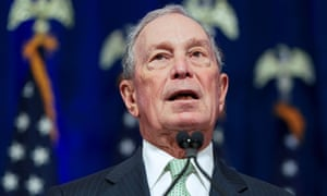 Michael Bloomberg, who is worth about $53bn, announced on Sunday he was entering the race for president.