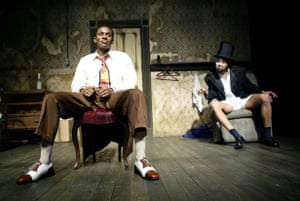 Mos Def and Jeffrey Wright in Topdog/Underdog by Suzan-Lori Parks, directed by George C Wolfe in 2003.