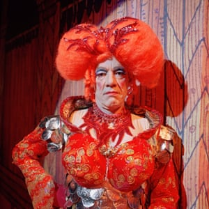 Roger Lloyd Pack playing his first ever pantomime dame as Sarah the Cook in Dick Whittington and his Cat in 2006