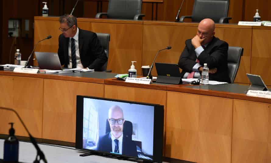 Facebook vice-president of public policy for Asia-Pacific, Simon Milner appears before Senate inquiry into News Media and Digital Platforms