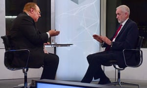 Jeremy Corbyn on The Andrew Neil Show last month.