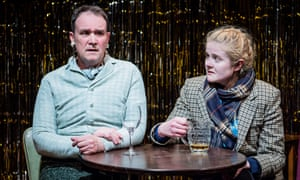 Alec Nicholls and Emma Barclay in One Million Tiny Plays About Britain at Jermyn Street theatre.