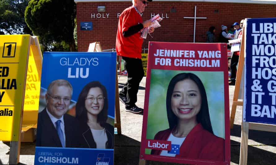 Posters for Gladys Liu and Jennifer Yang in the electorate of Chisholm