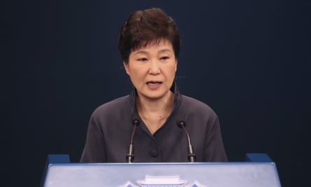 Park Guen-hye, seen here in October last year, has been held in a detention facility in Seoul since her arrest.